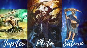 Jupiter  Saturn and Pluto myth
